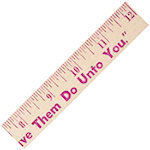 12 Inch Natural Finish Wood Rulers
